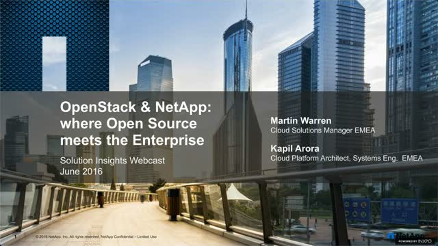 OpenStack and NetApp: when Open Source meets the Enterprise