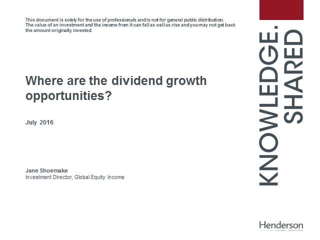 Where are the dividend growth opportunities?
