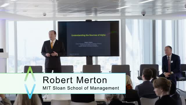 Innovat:invest 2016 - Robert C. Merton: Understanding the Sources of Alpha