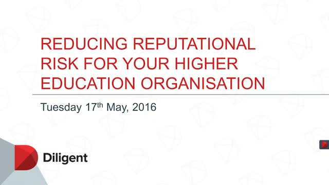 Reducing Reputational Risk for Your Higher Education Organisation