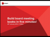 Build Board Meeting Books in Less Than Five Minutes!