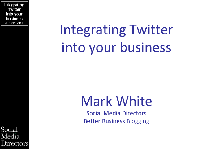 Integrating Twitter into your Business