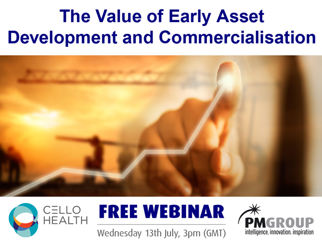 The value of early asset development and commercialisation