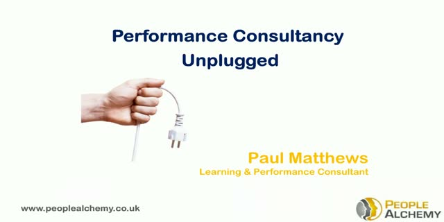 Performance Consultancy Unplugged
