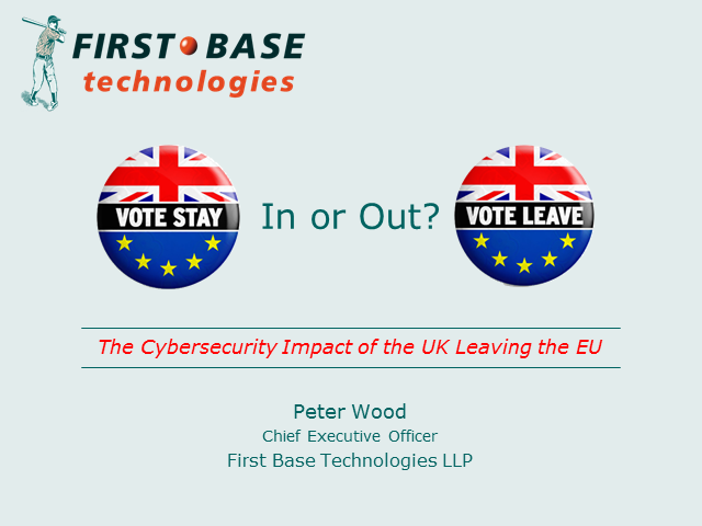 The Cyber Security Impact of the UK Leaving the EU