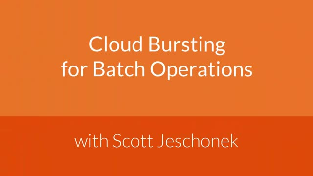 Cloud Computing for Batch Operations in Financial Services