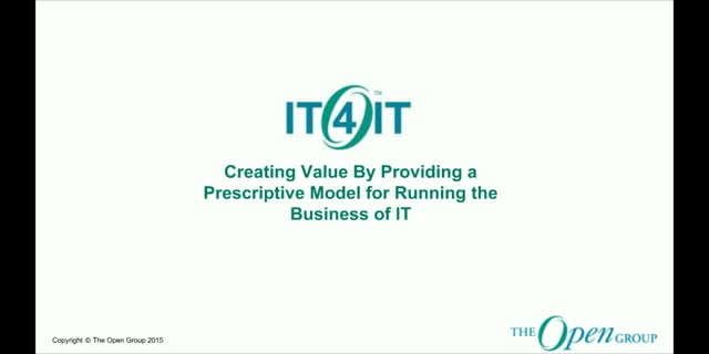 An Introduction to the IT4IT Reference Architecture for the Business of IT