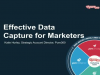 Effective Data Capture for Marketers