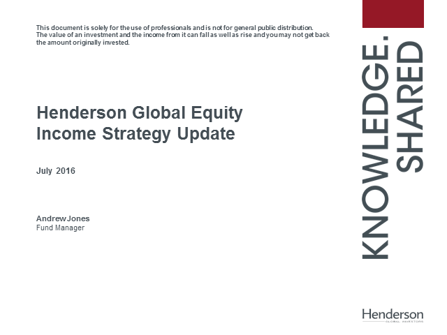 Live Insight: Henderson Global Equity Income Strategy Webcast Q2
