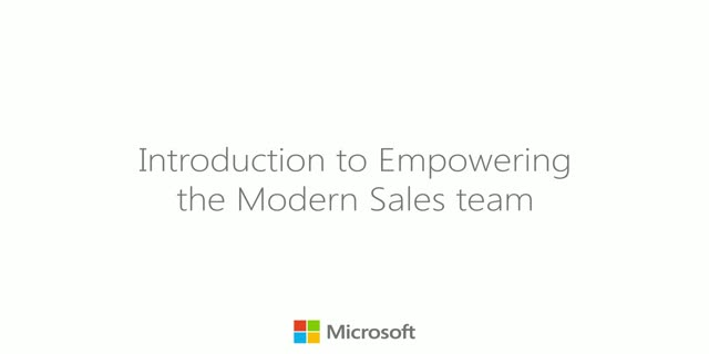 Introduction to Empowering the Modern Sales Team