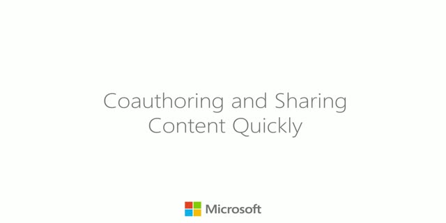 Coauthoring and Sharing Content Quickly in Finance