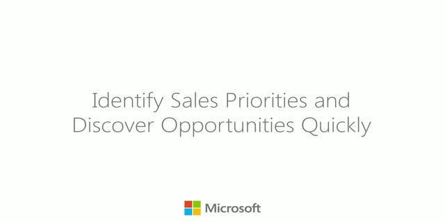 Identifying Sales Priorities and Discover Opportunities Quickly in Finance
