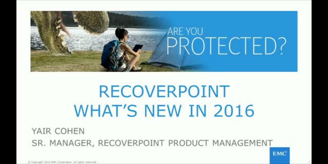 RecoverPoint: What's New In 2016