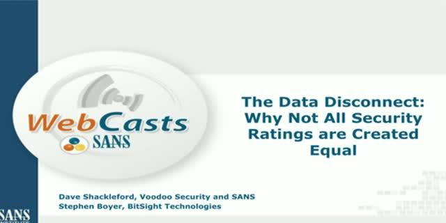 The Data Disconnect: Why Not All Security Ratings are Created Equal