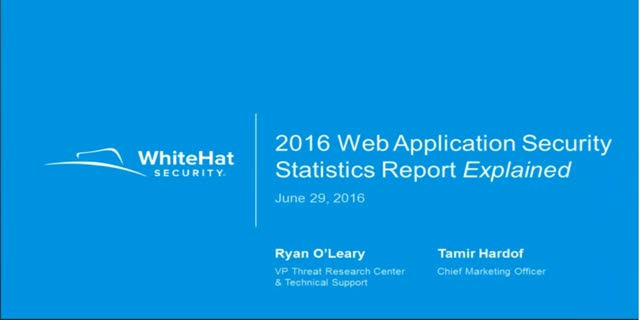 WhiteHat Security's 2016 Web Applications Security Stats Report Explained