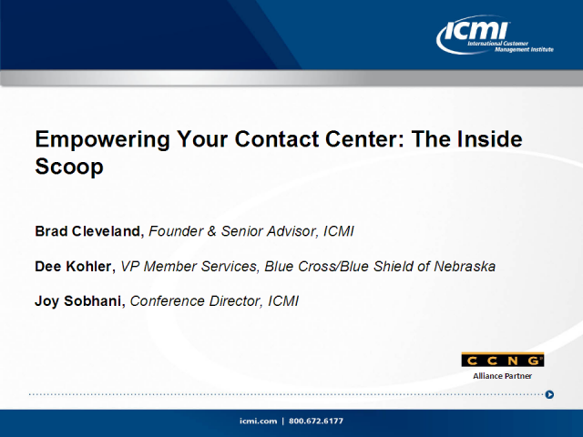 Empowering Your Contact Center: The Inside Scoop