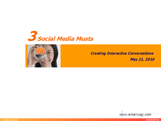 Three Must Haves for Social Media