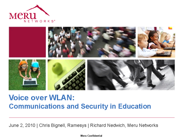 Communications and Security in Education using Voice over WLAN