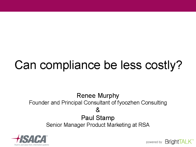 Can compliance be less costly?