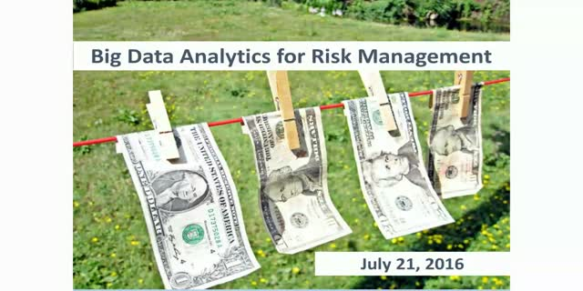 Big Data Analytics for Risk Management