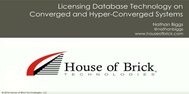 Licensing Databases on vSphere with Converged and Hyperconverged Platforms