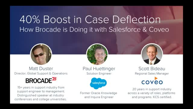 40% Boost in Case Deflection – How Brocade Did it with Salesforce & Coveo