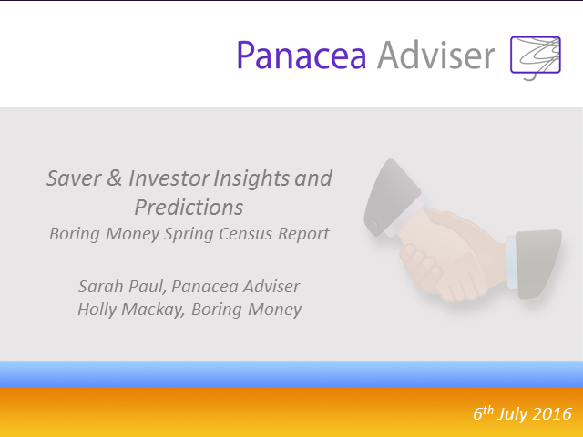 Saver & Investor Insights and Predictions