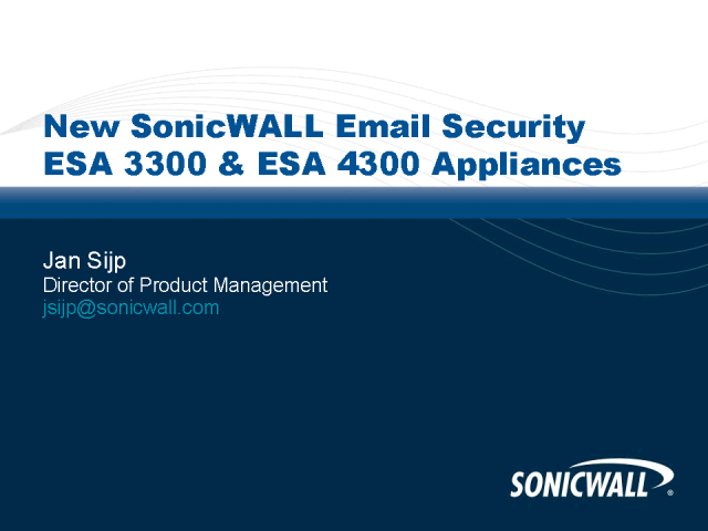 Introducing the New Email Security ESA 3300 & ESA 4300 Appliances