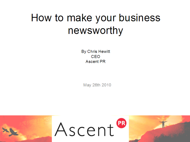 How to Make Your Business Newsworthy