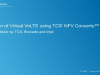 Validation of Virtual VoLTE using TCS's NFV Concerto