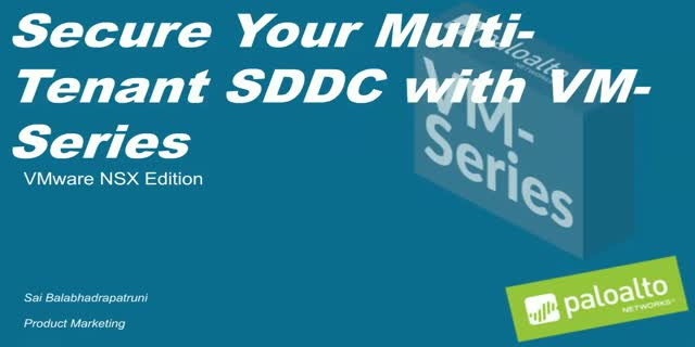 Prevention Week: Securing Multi-Tenant Software Defined Data Center w/ VM-Series