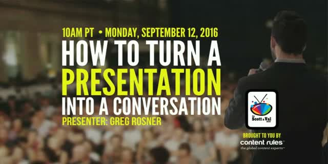 How to Turn a Presentation into a Conversation