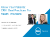 Know your Patients: CRM Best Practices for Health Providers