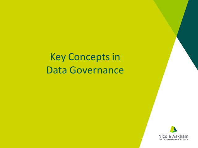 Basic Concepts of Data Governance