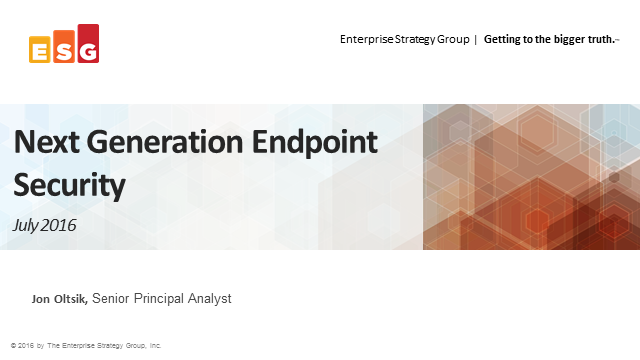 A Comprehensive Approach to Next-Generation Endpoint Security