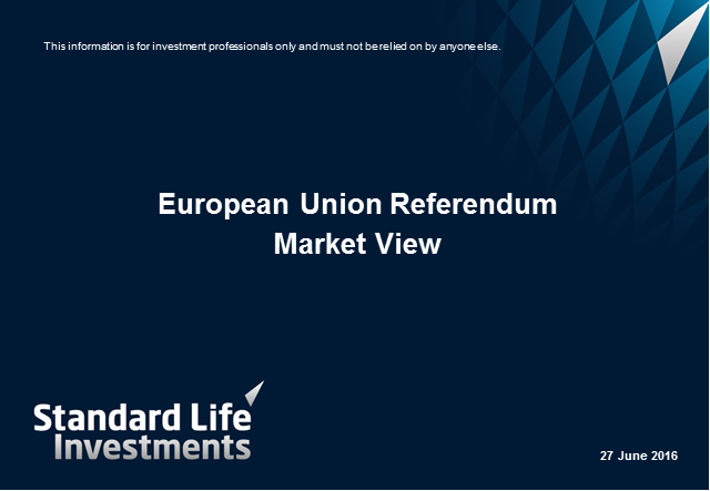 European Union Referendum – Market Views