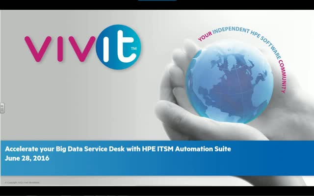 Accelerate your Big Data Service Desk with HPE ITSM Automation Suite