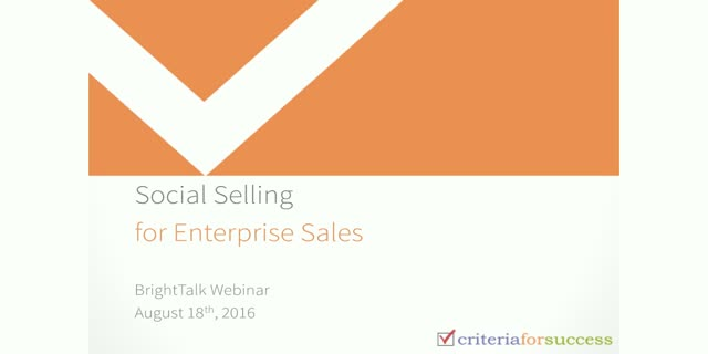 Social Selling for Enterprise Sales