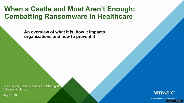 When a Castle and Moat Aren't Enough: Combatting Ransomware in Healthcare