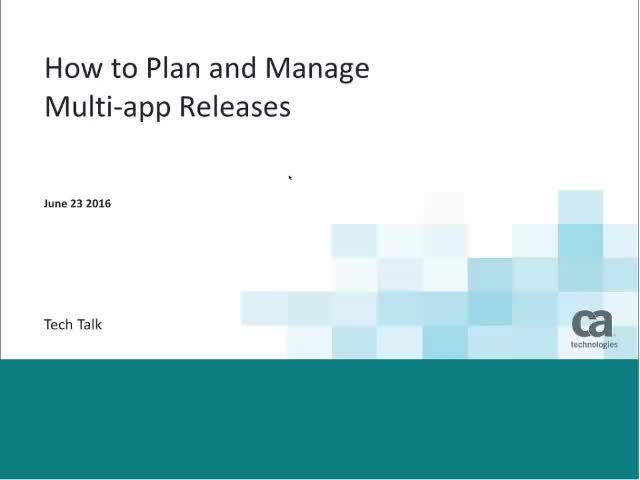 Taking Control of Multi-Application Releases