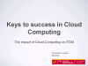 The Impact of Cloud on IT Service Management