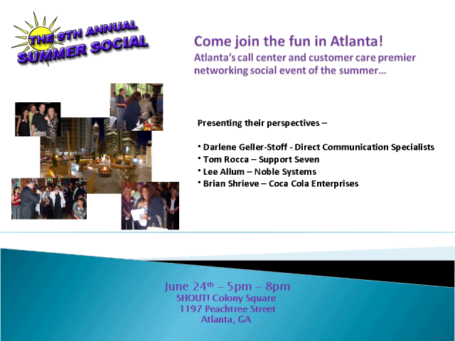 Atlanta's 9th Annual Summer Social Networking Event!