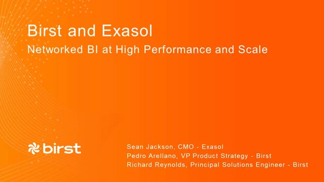 Birst and EXASOL: Networked BI at high performance and scale