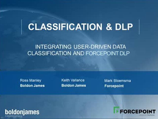 Integrating User-Driven Data Classification and Forcepoint DLP