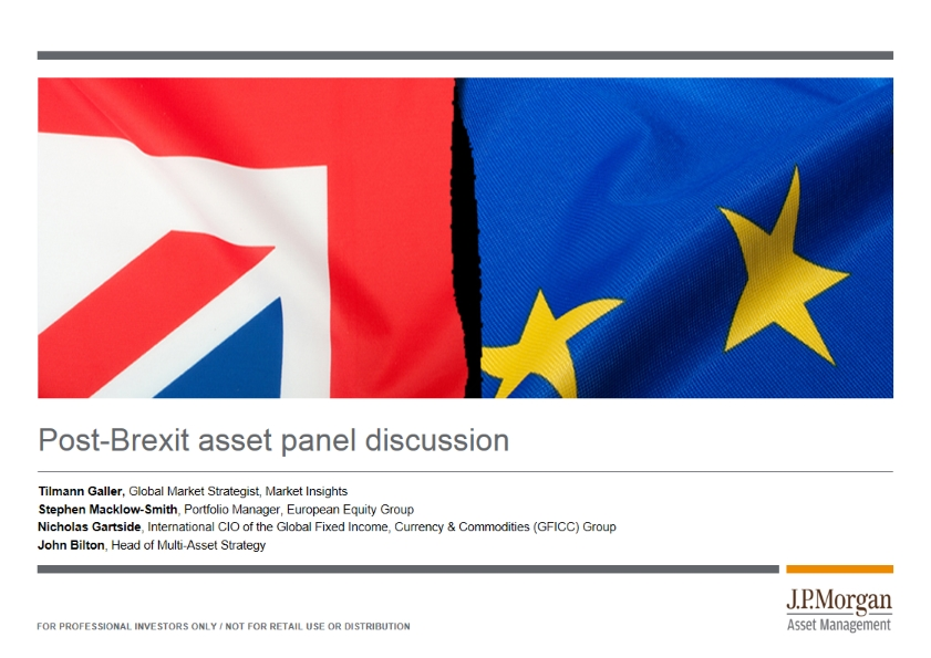 Post-Brexit asset panel discussion
