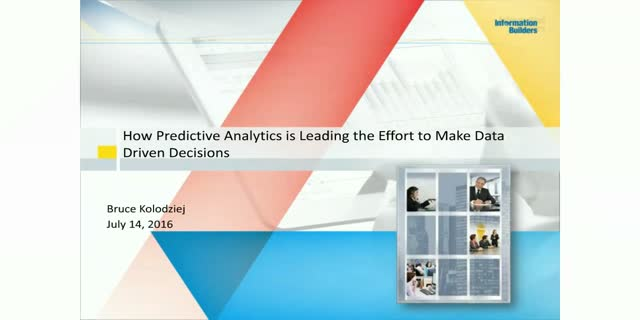 How Predictive Analytics is Leading the Effort to Make Data Driven Decisions