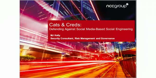 Cats and Creds: Defending Against Social Media-Based Social Engineering