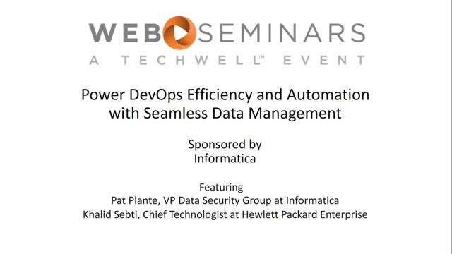 Power DevOps Efficiency and Automation with Seamless Data Management