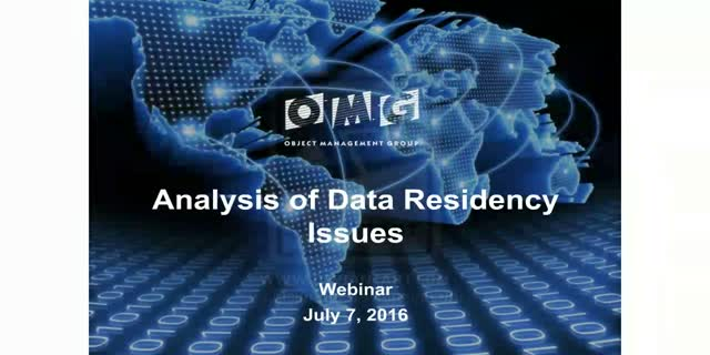 Analysis of Data Residency Issues