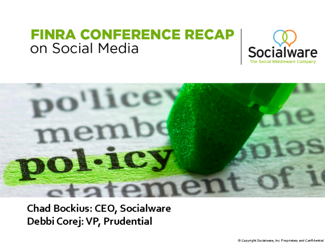 FINRA Conference Recap on Social Media